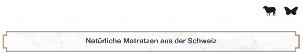 Natürliche Matratzen aus der Schweiz Wolle Seide