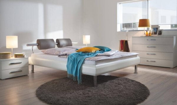 Hasena Bett Top-Line MDF weiss Prestige 18 Oria Kopfteil
