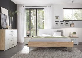 Hasena Bett Top-Line Advance 18 Eiche MDF