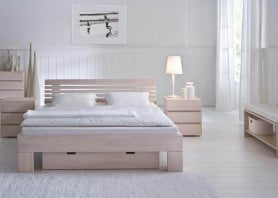 Bett Wood-Line Classic 16 massiv Kopfteil Litto Massa
