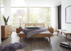 Hasena Bett Oak-Line Modul Eiche Massiv Natur mit Kopfteil Masito