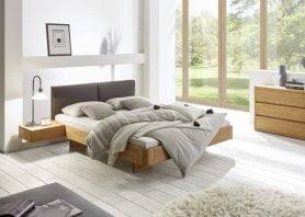 Hasena Bett Oak-Line Modul Eiche Massiv Natur mit Kopfteil Airo