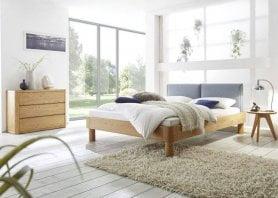 Hasena Bett Oak-Line Modul Eiche Massiv Natur mit Kopfteil Tonna