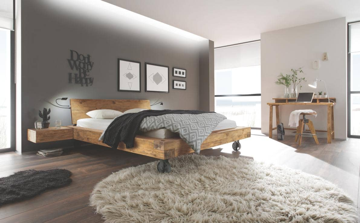 hasena bett oak vintage bloc 16 road 1 bettenland. Black Bedroom Furniture Sets. Home Design Ideas