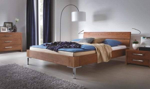 Hasena Bett Oak-Line Modul Massivholz Metall