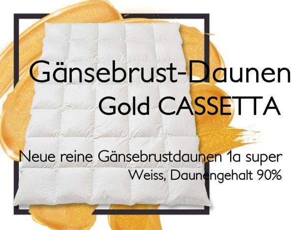 Daunenduvet Gänsedaunen Gold Cassetta