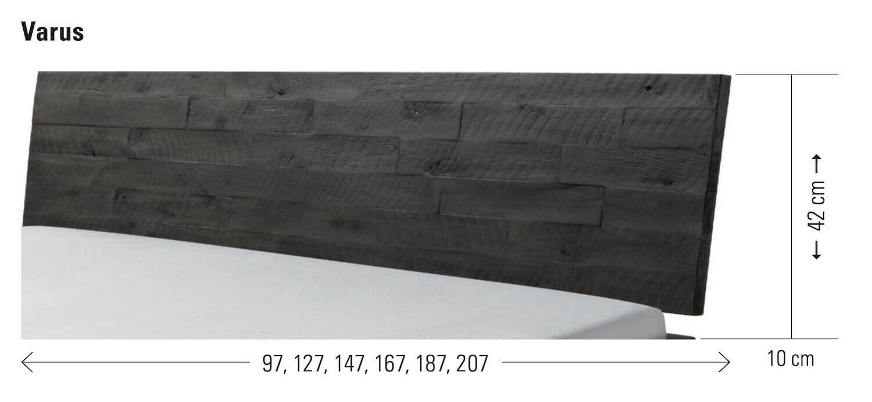 Kopfteil Varus Bett Akazie massivholz Hasena