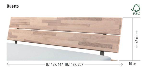 Kopfteil Hasena Bett Duetto Wood-Line massivholz Masse