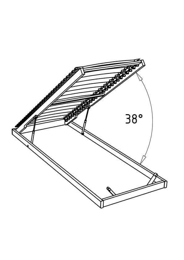 Hasena Lattenrost Ultrafree-Lift KF