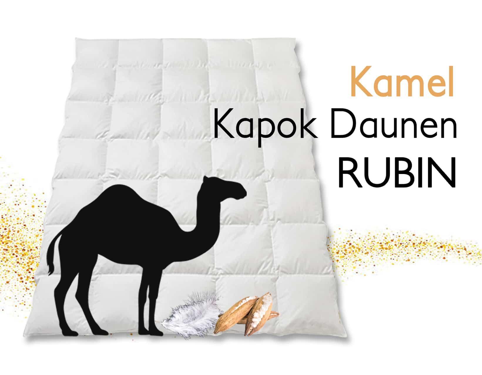 """Duvet Kapok Daune Kamelhaarflaum """"Rubin"""""""