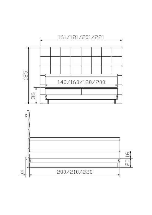 Hasena Boxspring Bett Konstruktion
