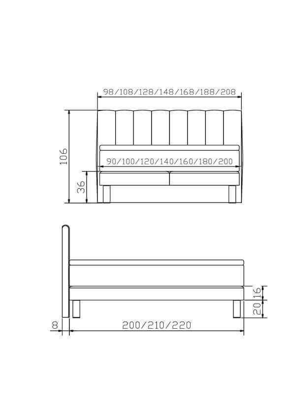 Hasena Boxspring Bett Modern Comi Konstruktion