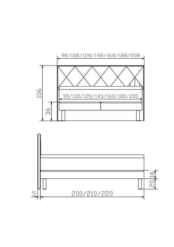 Hasena Boxspring Bett Modern Koso Konstruktion