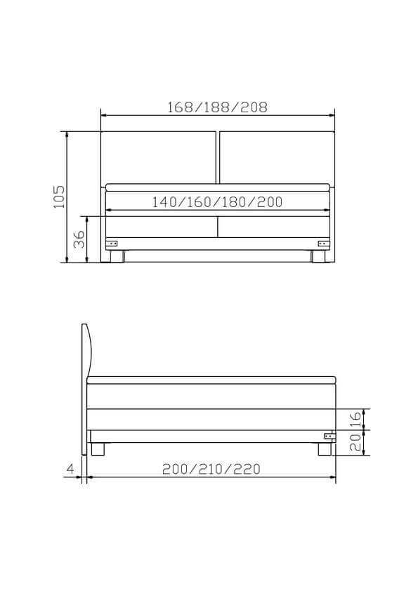 Hasena Boxspring Bett Factory Ivio Konstruktion