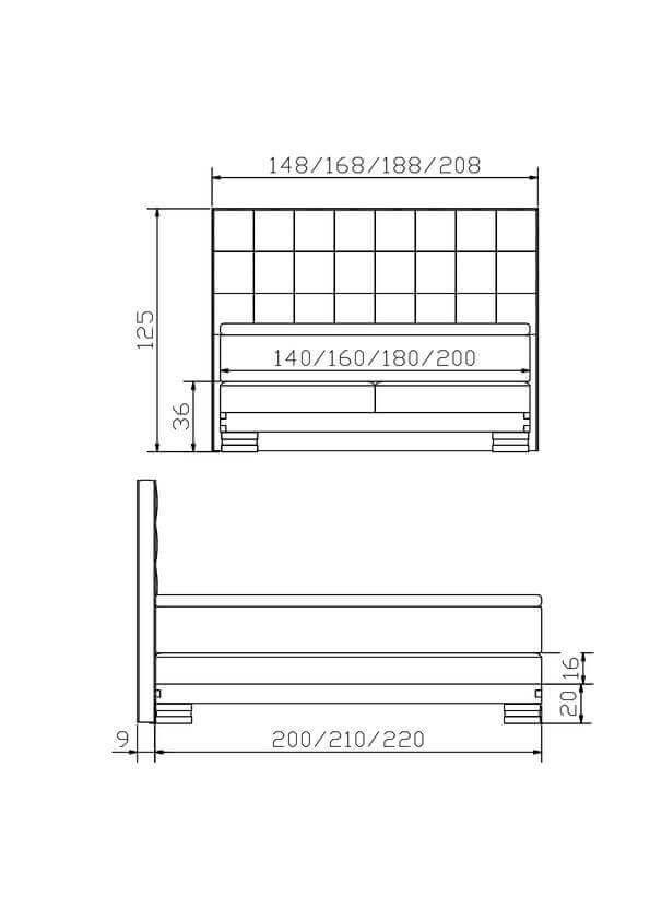 Hasena Boxspring Bett Konstruktion Onito