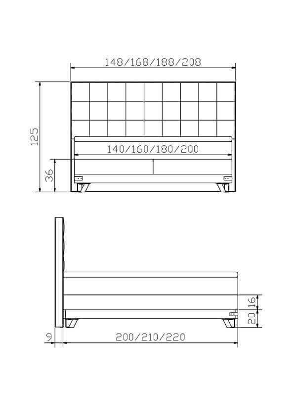 Hasena Boxspring Bett Factory Jeno Konstruktion