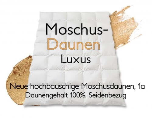 Moschus Daunenduvet Luxus