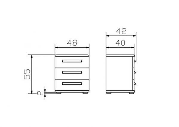 Hasena-Nachttisch-Trigo-Konstruktion