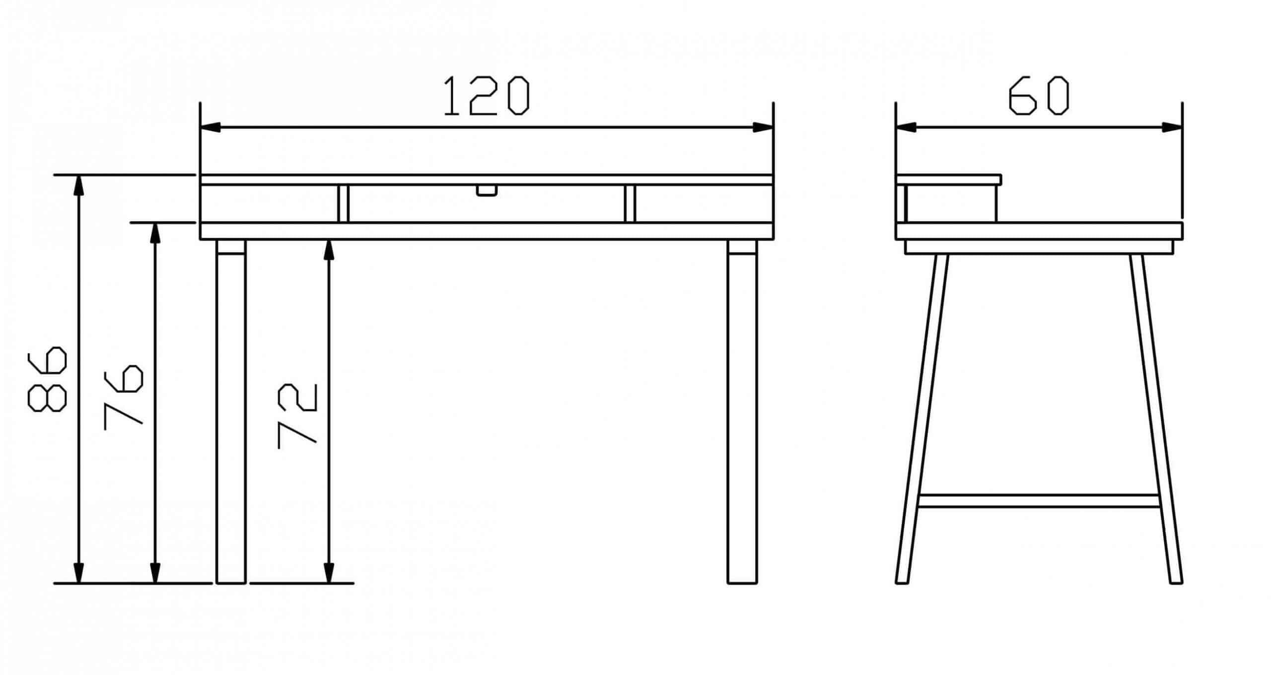 Schreibtisch Konstruktion