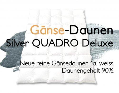 Gänsedaunenduvet Duvet Gänsedaunen Gänseflaum SIlver Quadro Deluxe