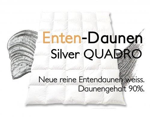 Entendaunen Duvet Daunen Ente Silver Quadro
