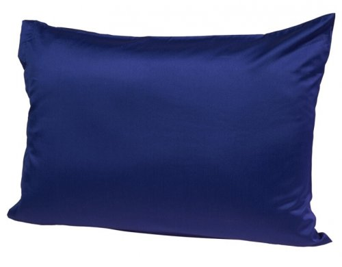 Baumwollsatin-Kissenbezug-blau