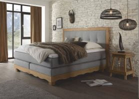 Hasena Boxspringbett Romantic grigio