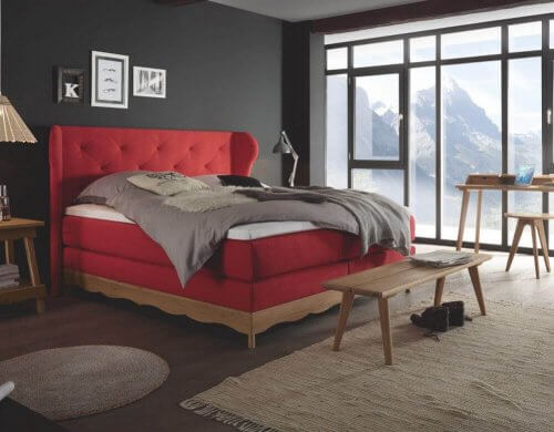 Hasena Boxspringbett Romantic red