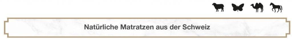 Natürliche Matratzen aus der Schweiz Wolle Seide Kamel Rosshaar