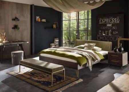 Hasena Bett Loft 18 Akazie Vintage grey