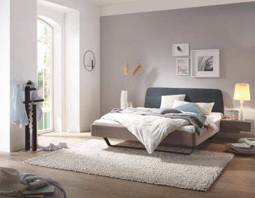 Hasena Bett Modul 18 Eiche Stone grey mit Polsterkopfteil