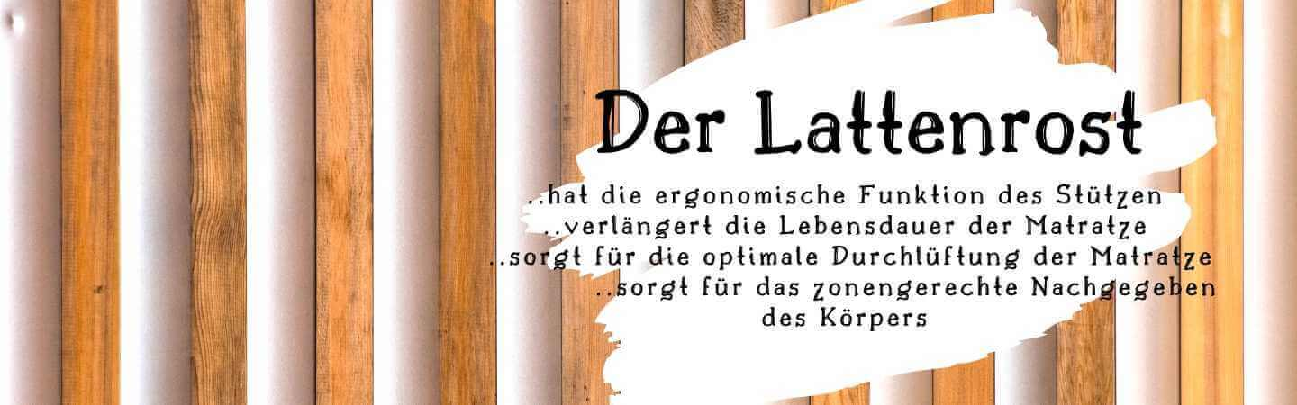 Website Banner - Lattenrost