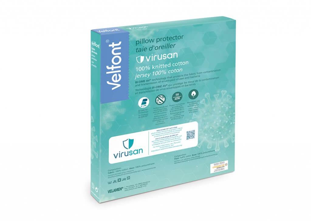 Velfont-Virusan-Kissenbezug-Verpackung